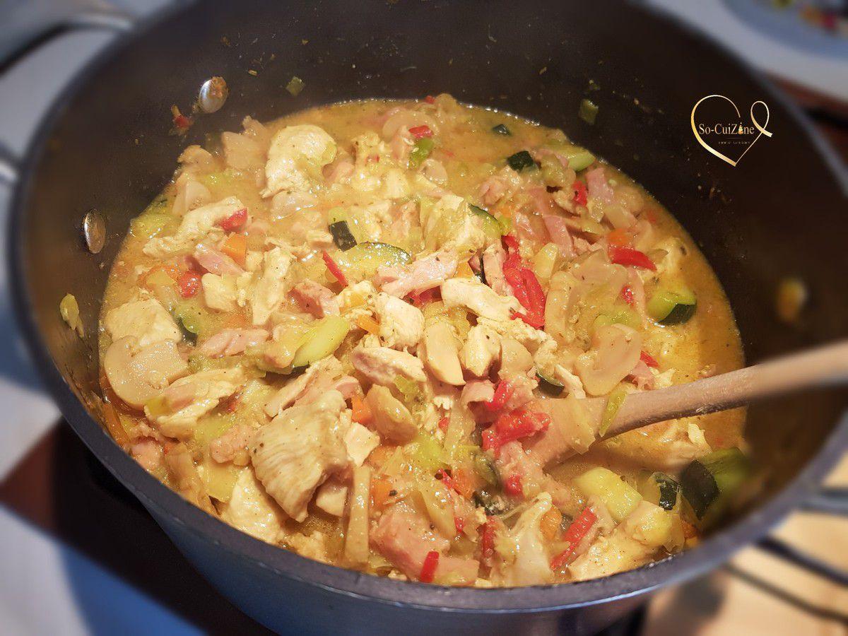 Chicken Pot Pie aux légumes de saison