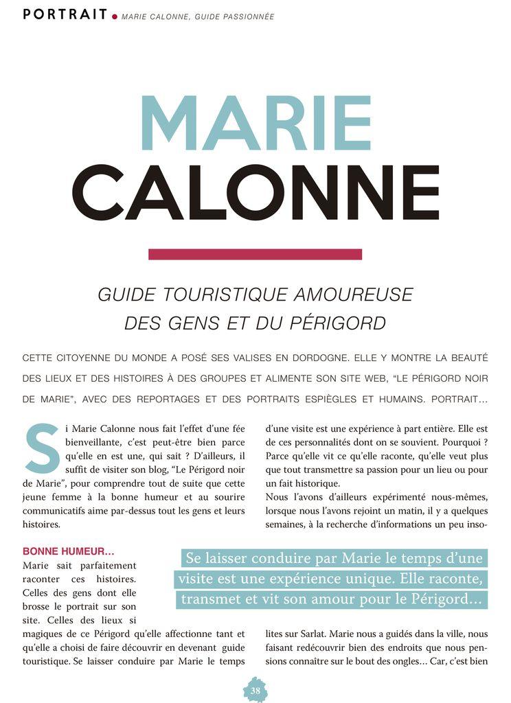 Page 38, Magazine Éditions Périgord