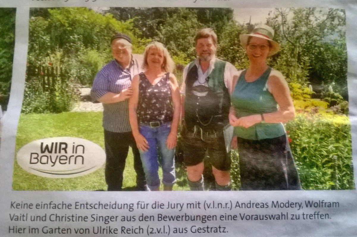 """Foto vom Bayrischen Rundfunk, aus dem """"Gartenratgeber"""" , der Vereinszeitschrift des Gartenbauvereins."""