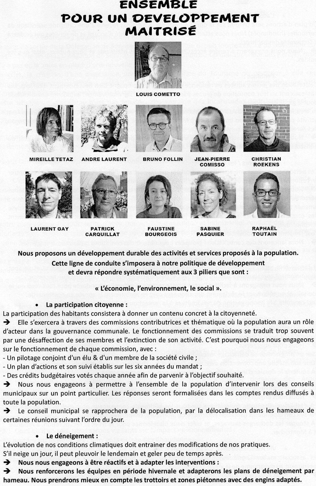ÉLECTIONS MUNICIPALES Du 15  MARS 2020 MONTRICHER ALBANNE