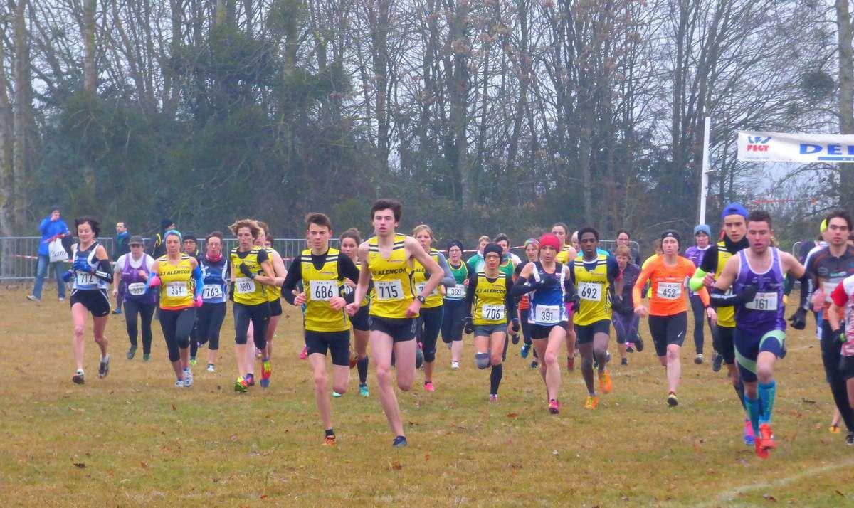 Championnats départementaux de cross-country à Alençon - samedi 7janvier