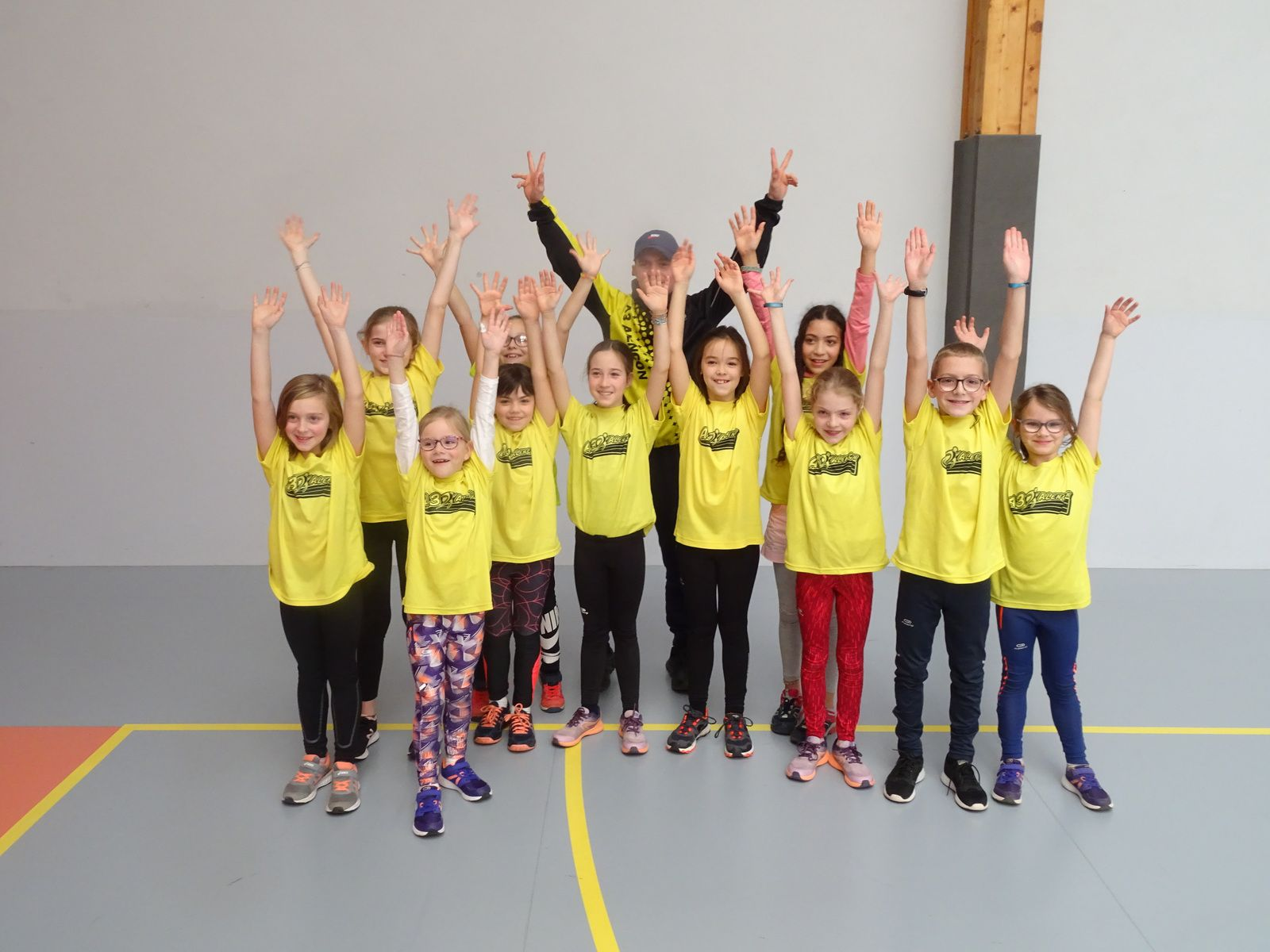 Kid Athlé de Mortagne ! Les jaune en force !!