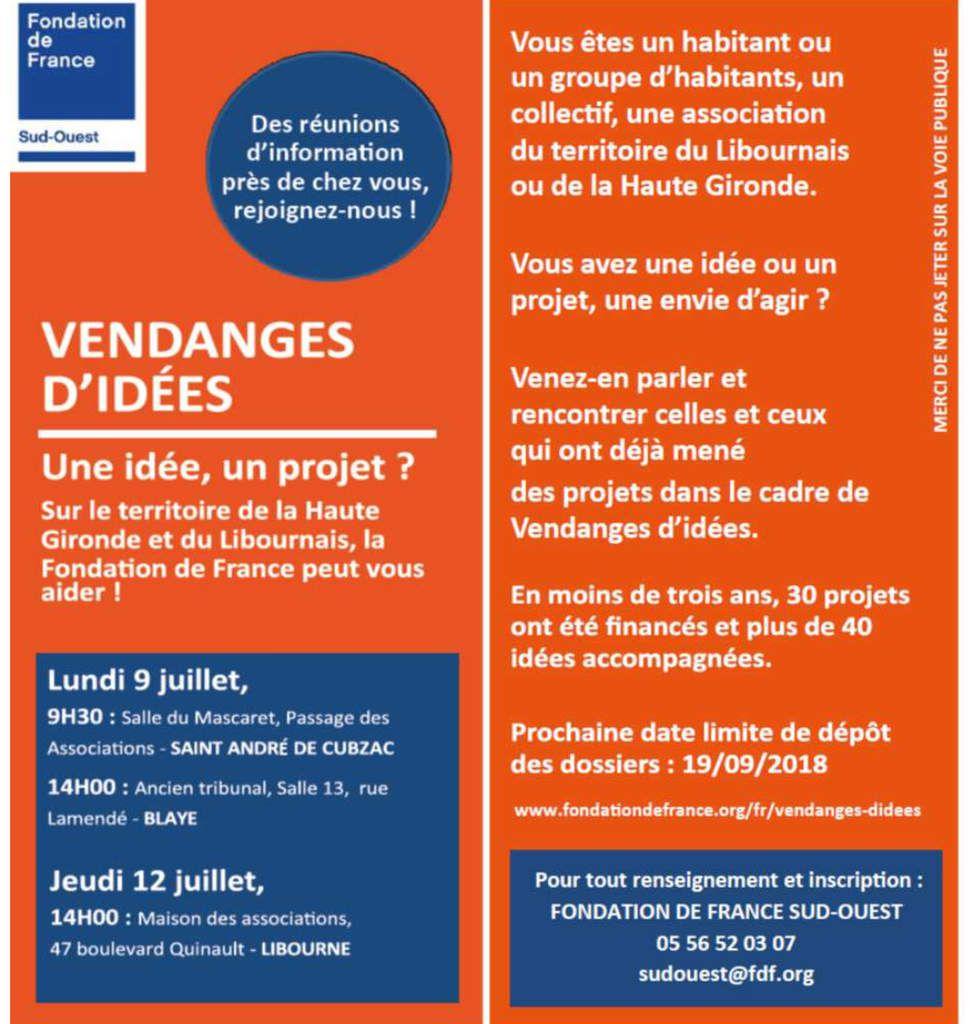 Vendanges d'idées et la Fondation de France