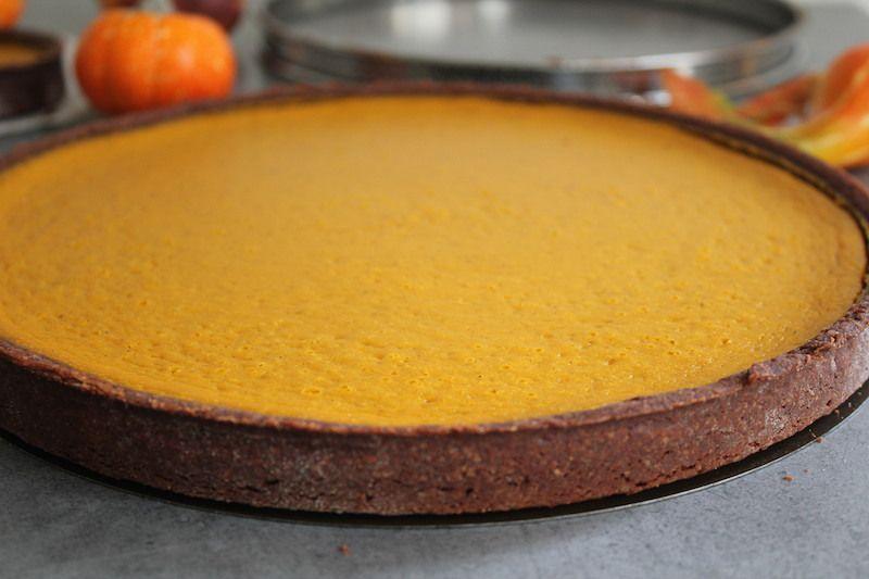 Tarte à la citrouille aux épices  ou Pumpki Pie sans gluten