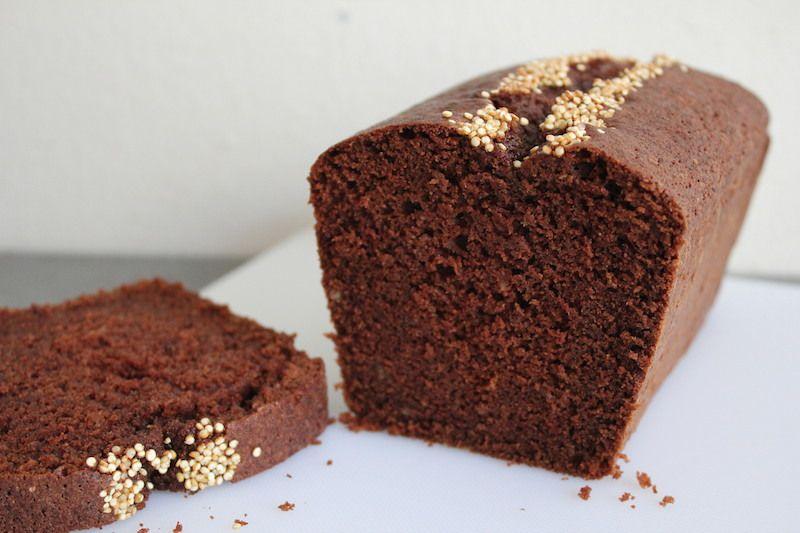 cake au chocolat sans gluten avant et après cuisson
