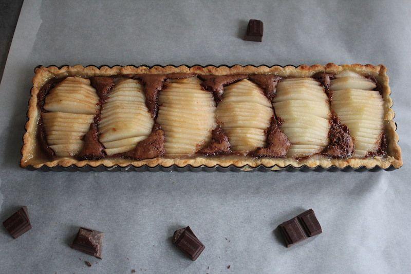 Tarte poires chocolat sans gluten