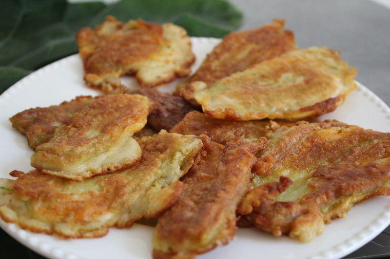 beignets de fleurs de courgettes sans gluten
