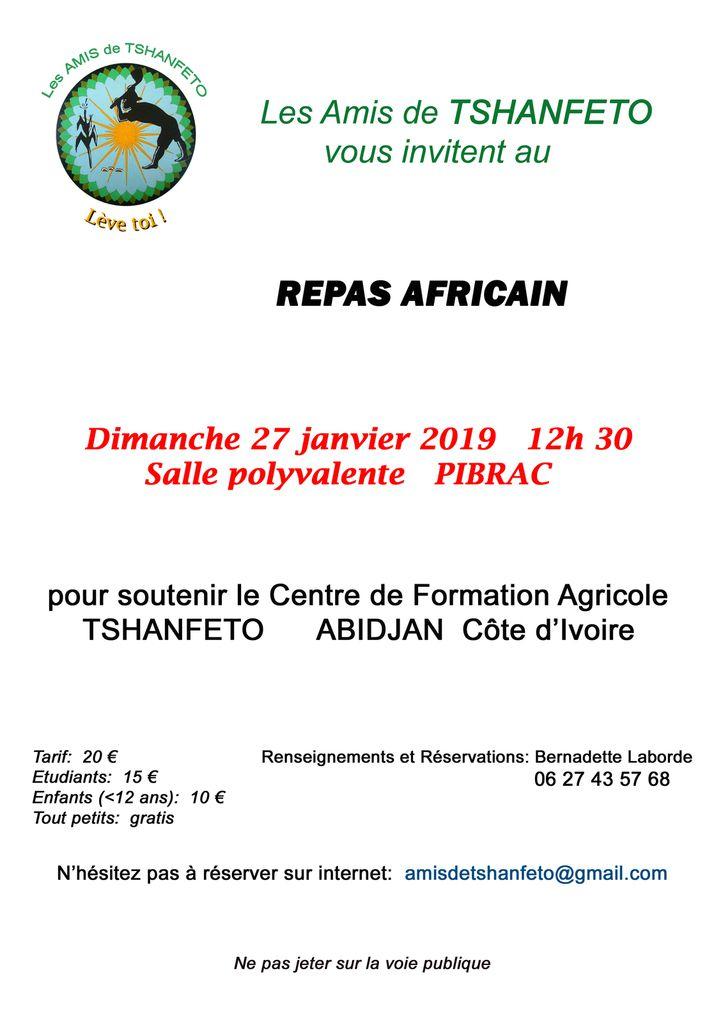 Repas Africain - dimanche 27 janvier - pour soutenir la ferme pédagogique de Tshanfeto en Côte d'Ivoire