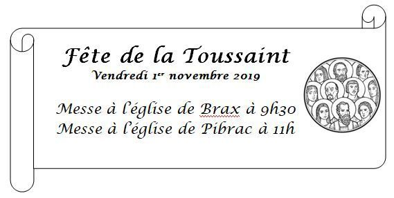 Agenda paroissial du samedi 2 novembre au dimanche 10 novembre 2019