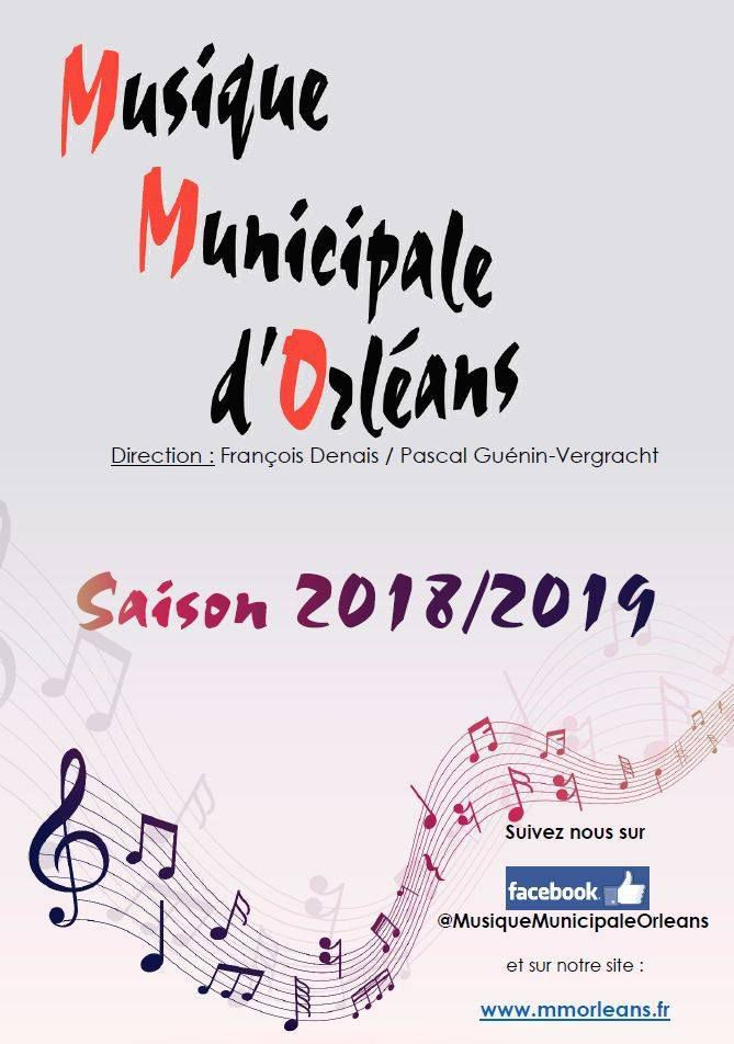 Musique Municipale d'Orléans : Concert gratuit le 31 mars 2019 au Théâtre d'Orléans