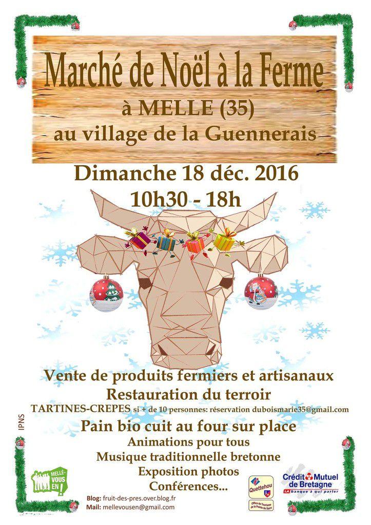 Marché de Noël à Mellé le 18 décembre 2016 !