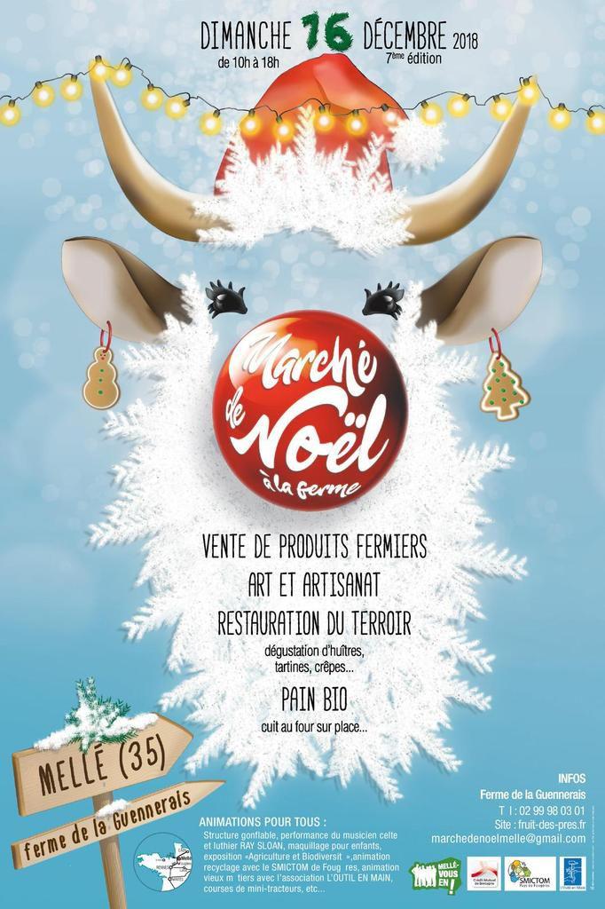 Marché de Noël à la Ferme à Mellé (35) le dimanche 16/12/18 !