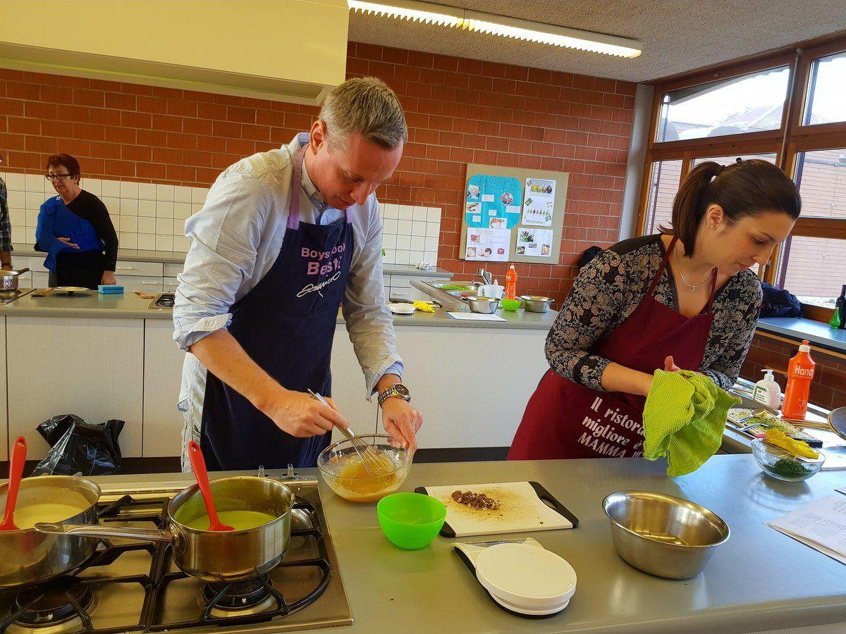 Photos du cours de cuisine romantique