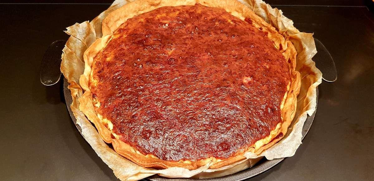 Ma quiche au fromage, oignons et lardons