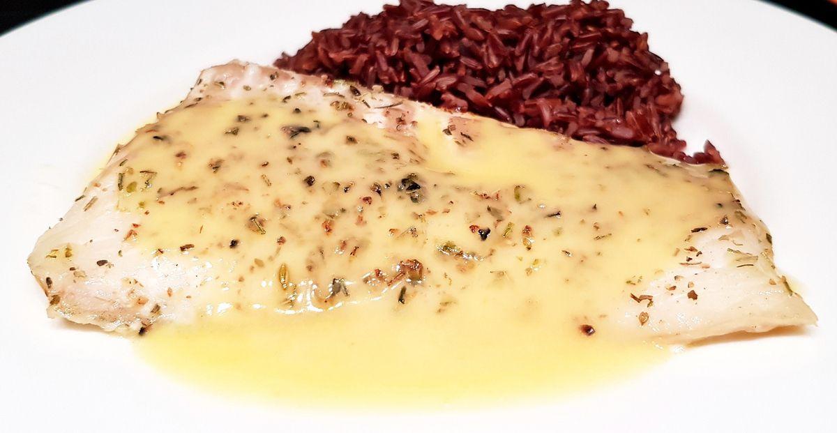 Dos de cabillaud au four et son beurre blanc