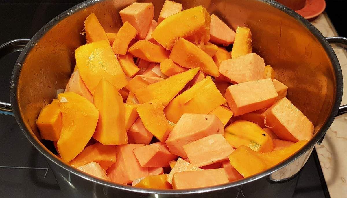 Velouté de patate douce et potimarron