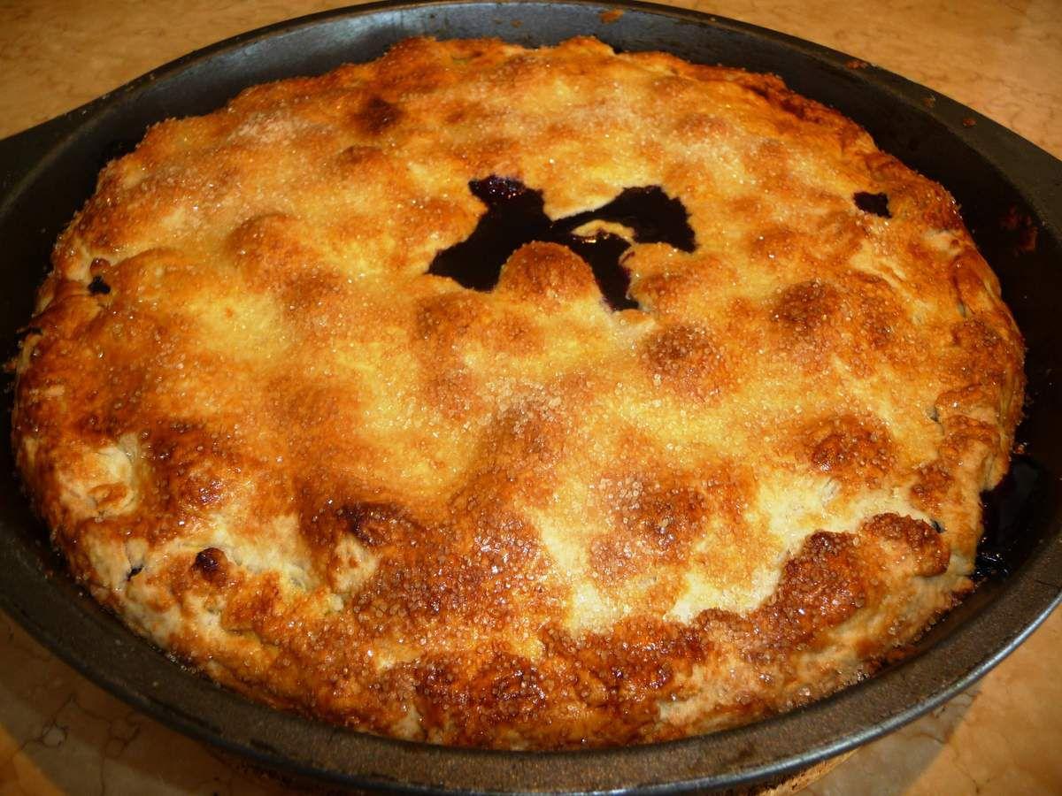 """Tarte aux myrtilles façon """"Blueberry Pie"""""""