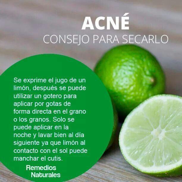 Como secar el acne