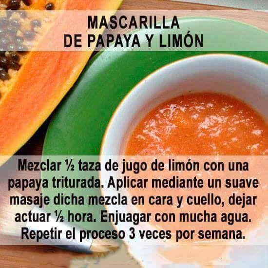 Mascarilla de papaya y limón