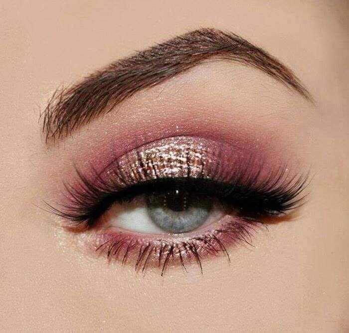Maquillaje tonos rosa
