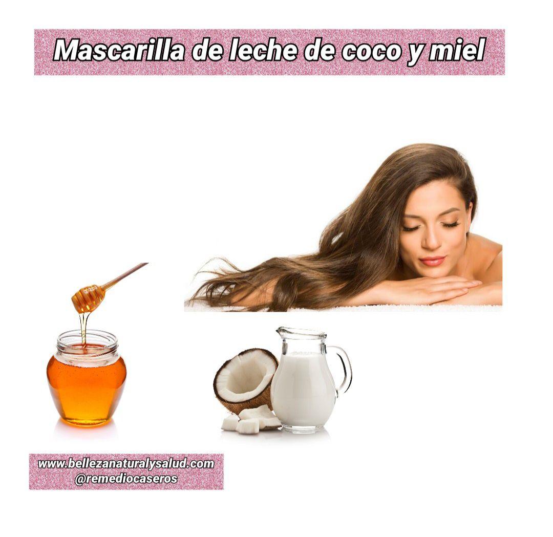 Leche de coco y miel para el cabello