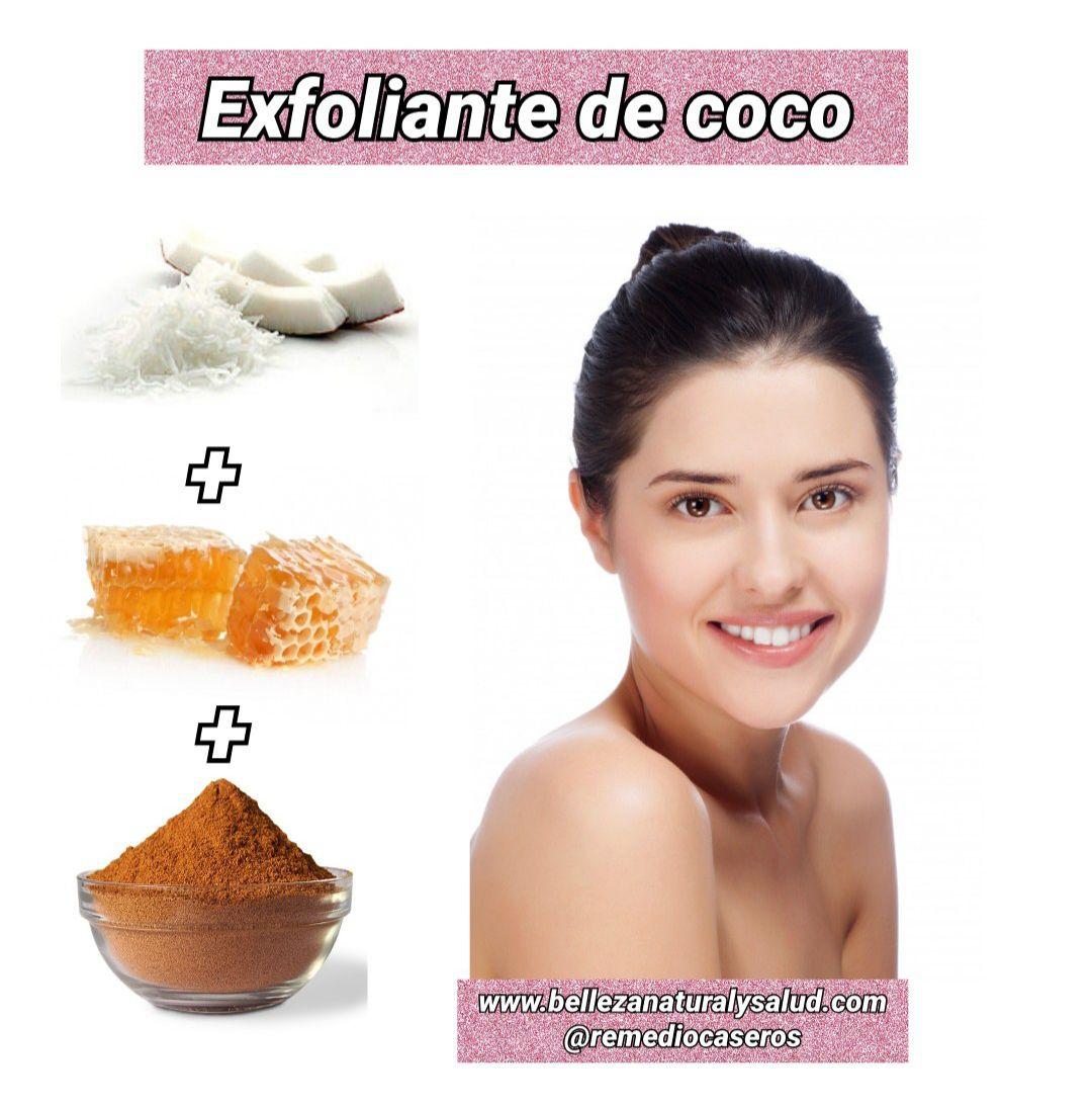 Exfoliante de coco para una piel suave