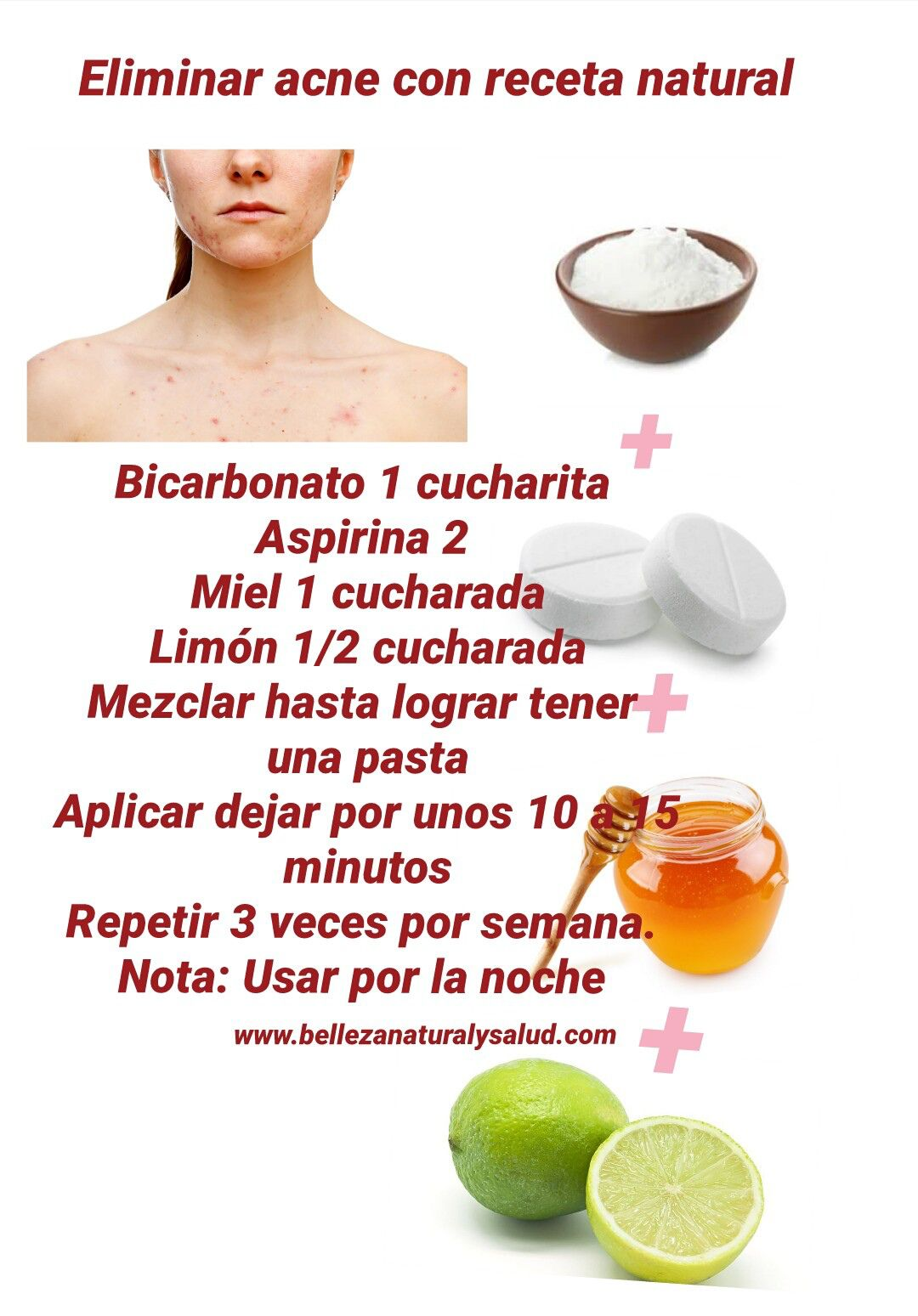 Eliminar acne receta natural