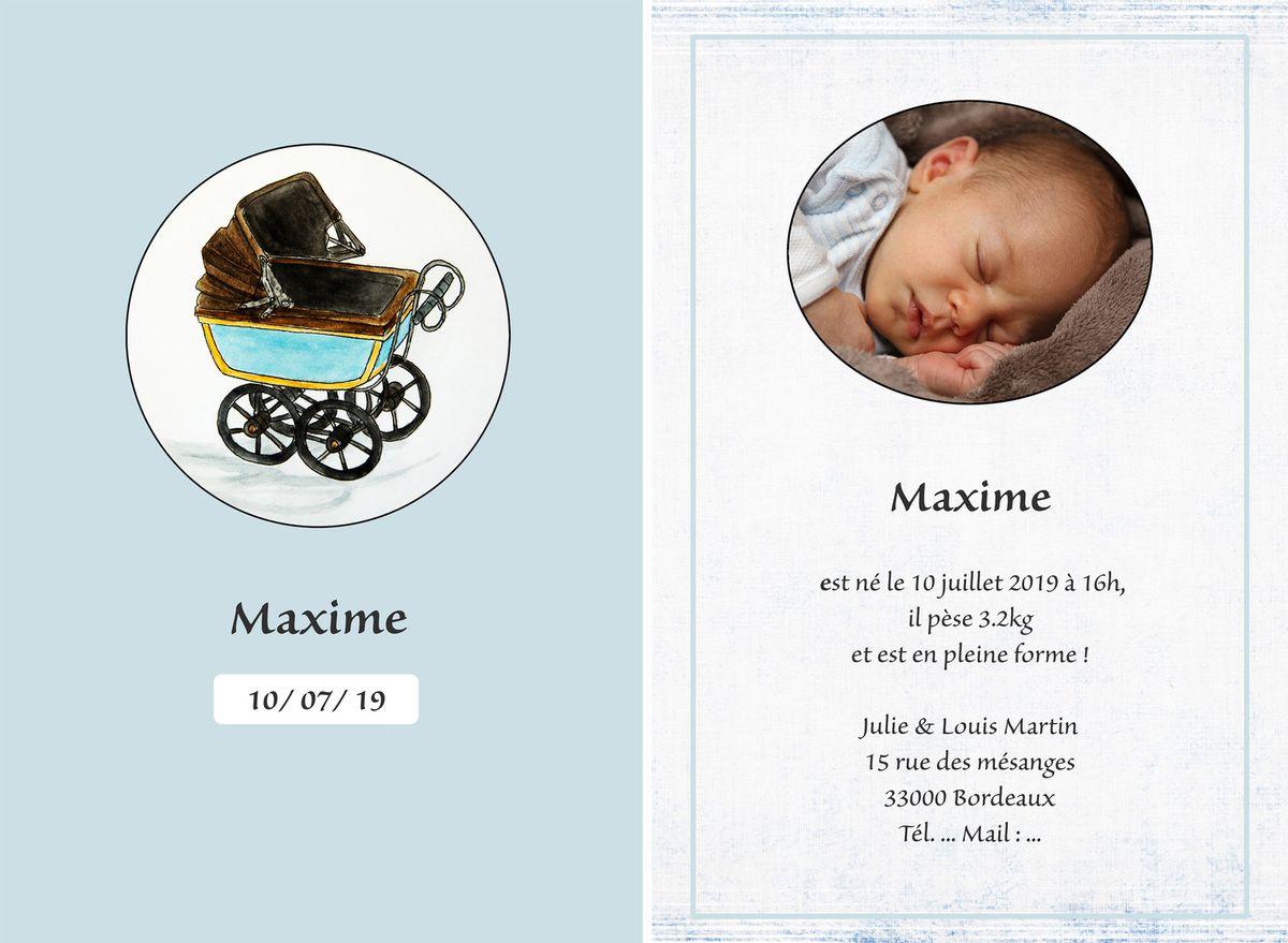 Réalisation de faire-part (naissance, mariage, autre événement...)