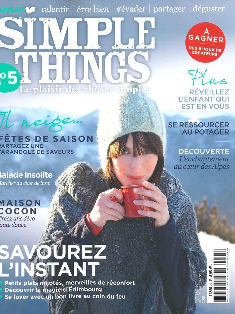 JEU-CONCOURS / Retrouvez-nous dans le magazine SIMPLE THINGS n°5 décembre-janvier {avec notre thé bio à la mauve et à la lavande}