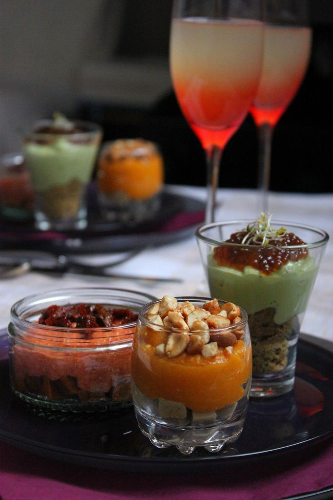 Trio de verrines végétales pour les fêtes {pour 1,2,3,Veggie !}