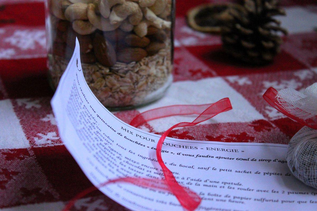 """Cadeau gourmand : kit """"bouchées énergie"""" {Noël 2014}"""