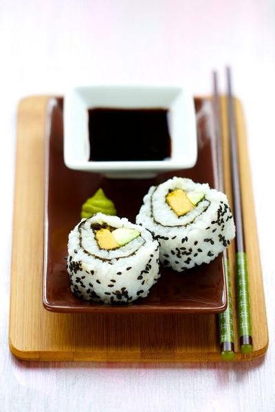 California maki mangue et avocat
