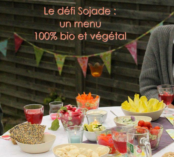 Défi Sojade : un menu 100% bio et végétal