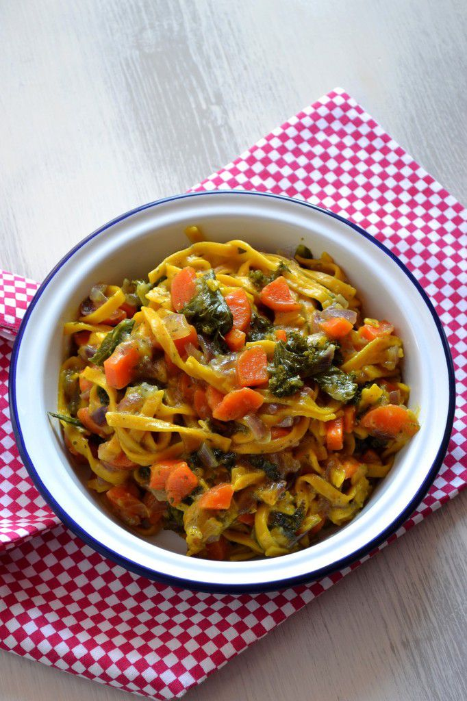 One pot pasta au chou kale {vegan}