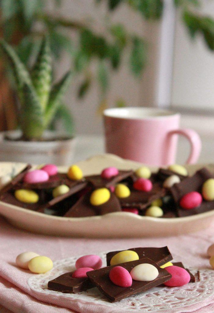 Barks de Pâques, une idée pour recycler les petits oeufs en sucre !
