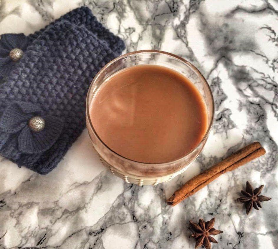 Chaï latte au chocolat