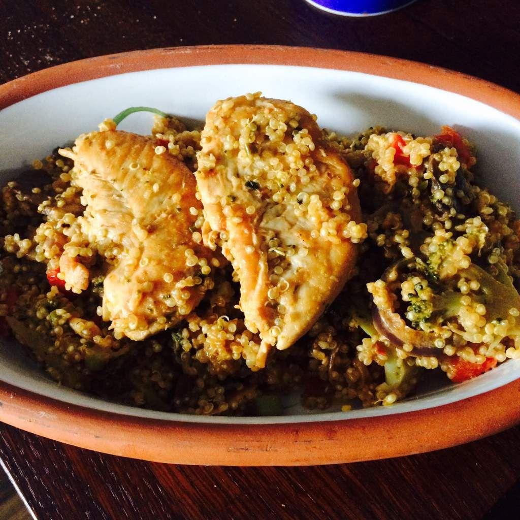 Quinoa Sauté au Poulet Grillé...