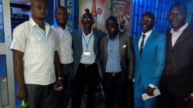 De gauche à droite ; Léonel Ntouba, Georges Lekama, Titan Yonkeu, Serges Epangue, Elong Ngotty, Elongbil
