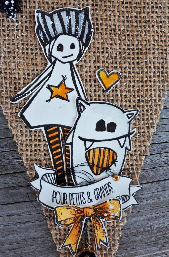 Une bannière de fanions Halloween / Automne *Dt Ephéméria*