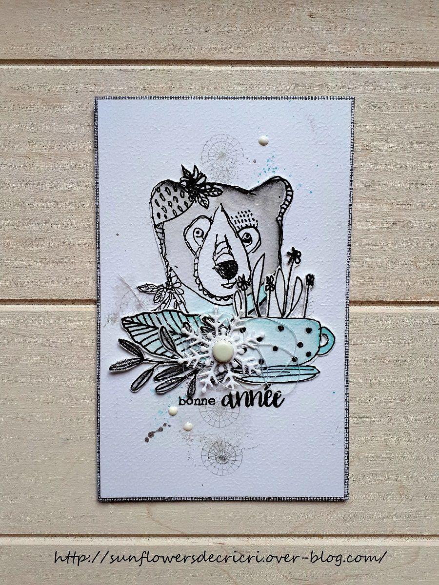 Un ours pour souhaiter la bonne année * DT Ephéméria *