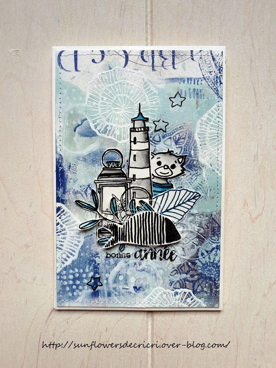 Carte de voeux ...esprit Bord de mer *DT Ephéméria *