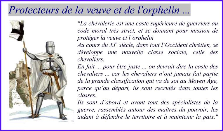 Chevaliers du moyen-âge ... Hommes d'honneur ?..