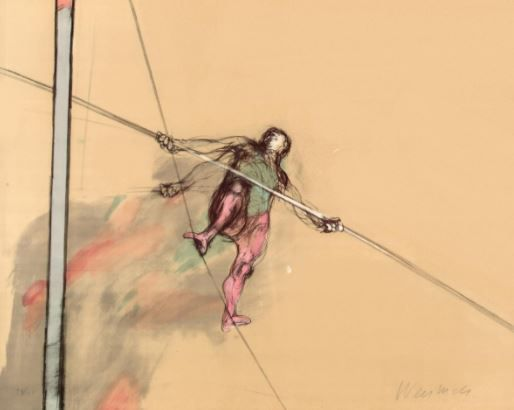 Sur un fil . Jacques Viallebesset