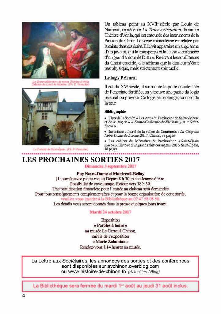 LETTRE AUX SOCIÉTAIRES ÉTÉ 2017