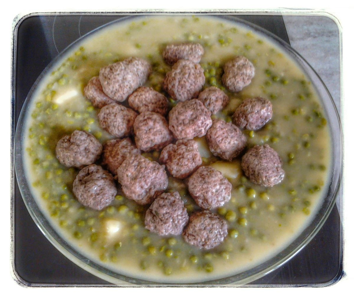 Boulette de boeuf aux petits pois et pommes de terre au thermomix et kitchenaid