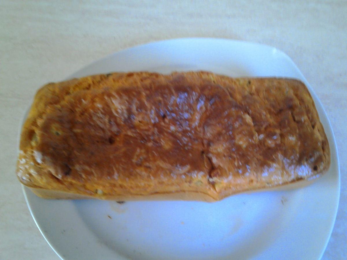 cake chorizo,poivron et basilic au thermomix