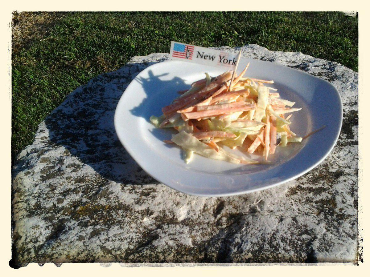 Coleslaw (en français salade de carottes et de choux blanc)