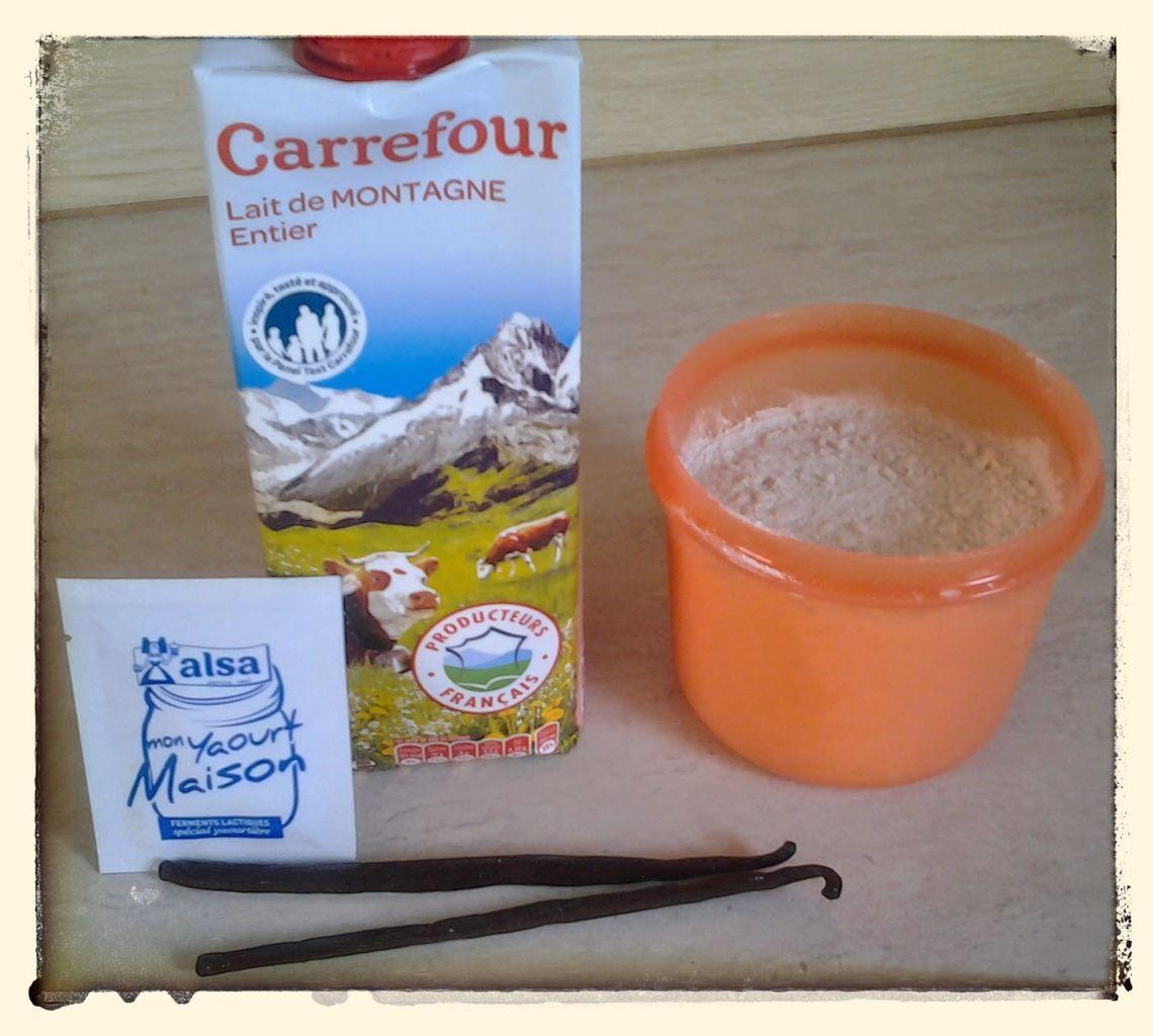 Yaourt à la vanille à la yaourtiére Lagrange