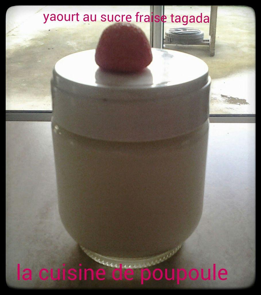 Yaourt au sucre Tagada à la yaourtière Lagrange