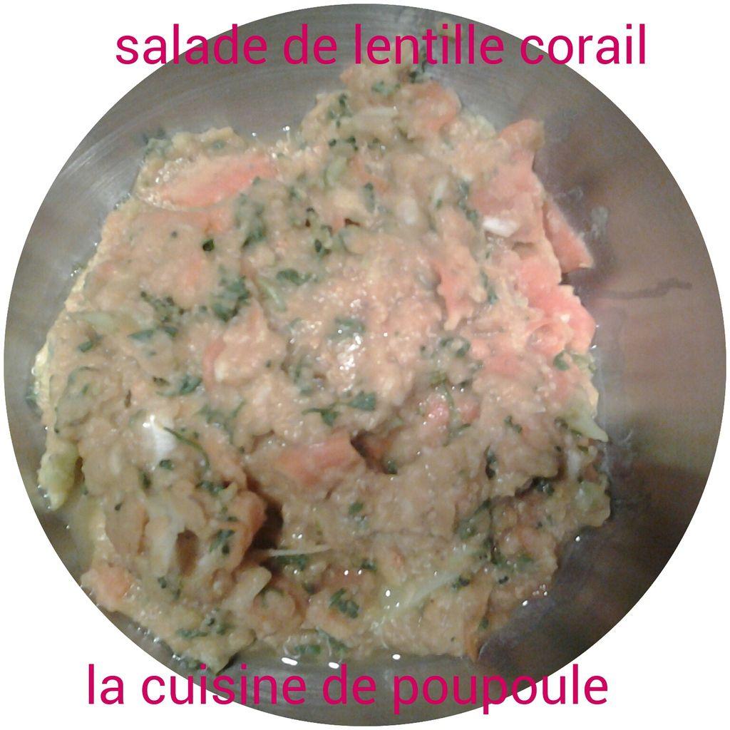 Salade de lentille Corail au thermomix